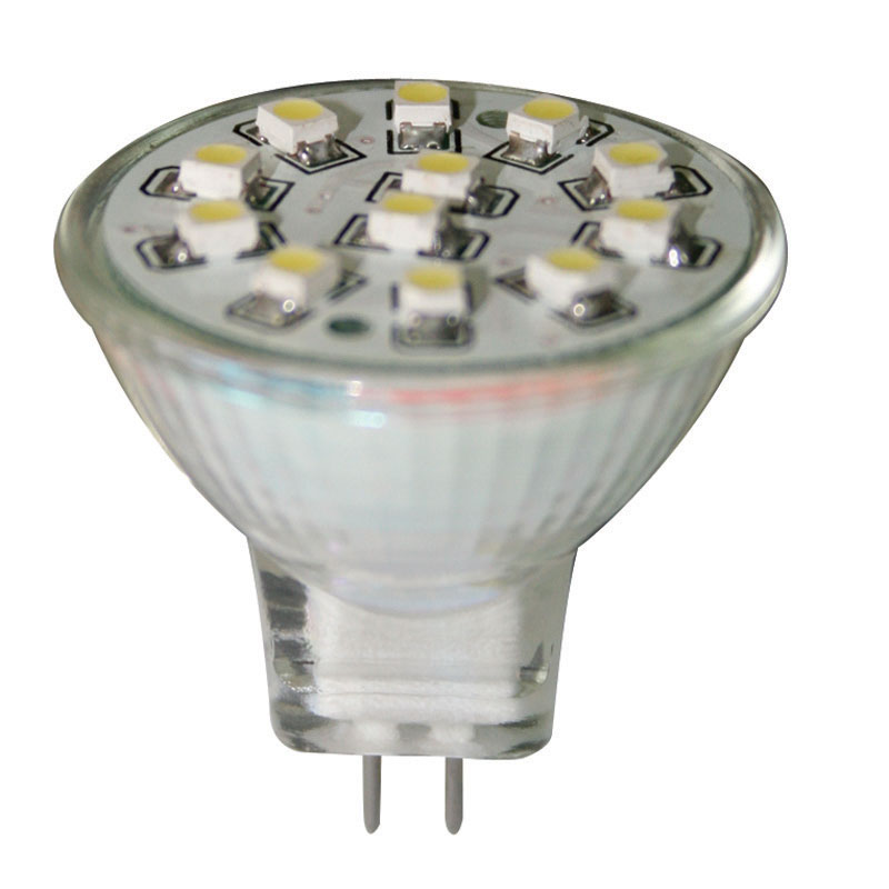 Ampoule 12V, LED, MR11, blanche - 12 SMDs image