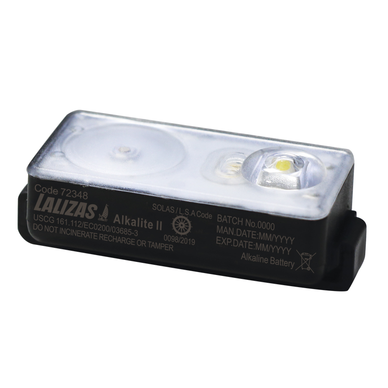 "Lampe flash LALIZAS pour gilet, LED ""Salkalite II"" Activation ON-OFF au contact de l'eau, USCG, SOLAS/MED image"